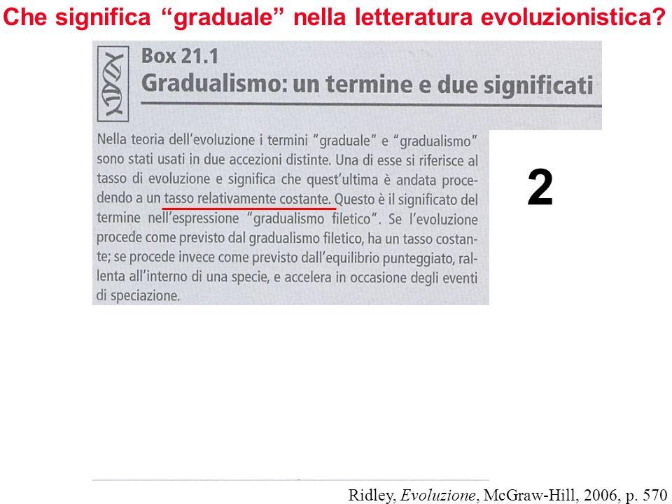 2 Che significa graduale nella letteratura evoluzionistica