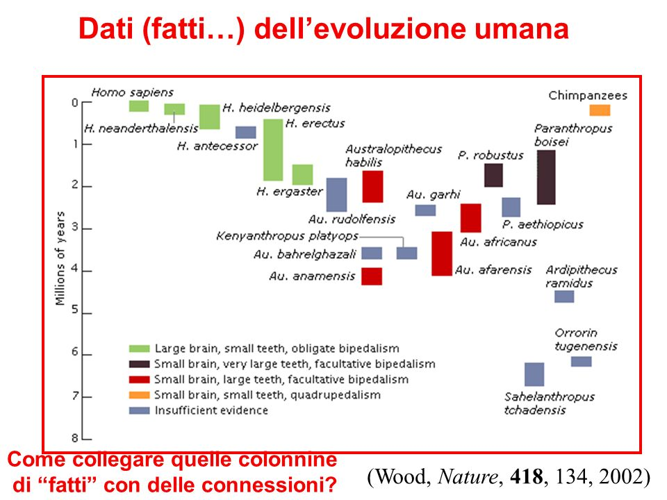 Dati (fatti…) dell'evoluzione umana