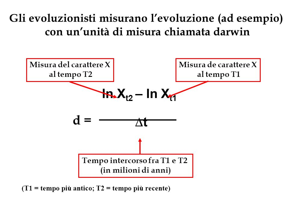 Gli evoluzionisti misurano l'evoluzione (ad esempio)