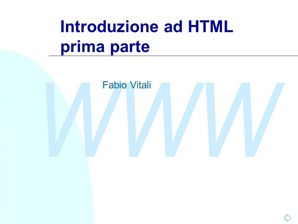 Introduzione ad HTML prima parte