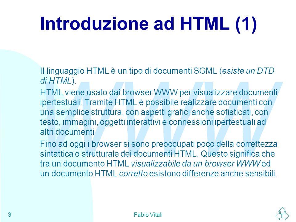 Introduzione ad HTML (1)