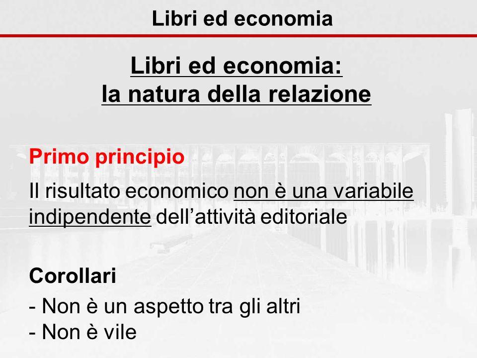 Libri ed economia: la natura della relazione