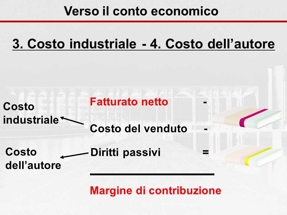 Verso il conto economico 3. Costo industriale - 4. Costo dell'autore