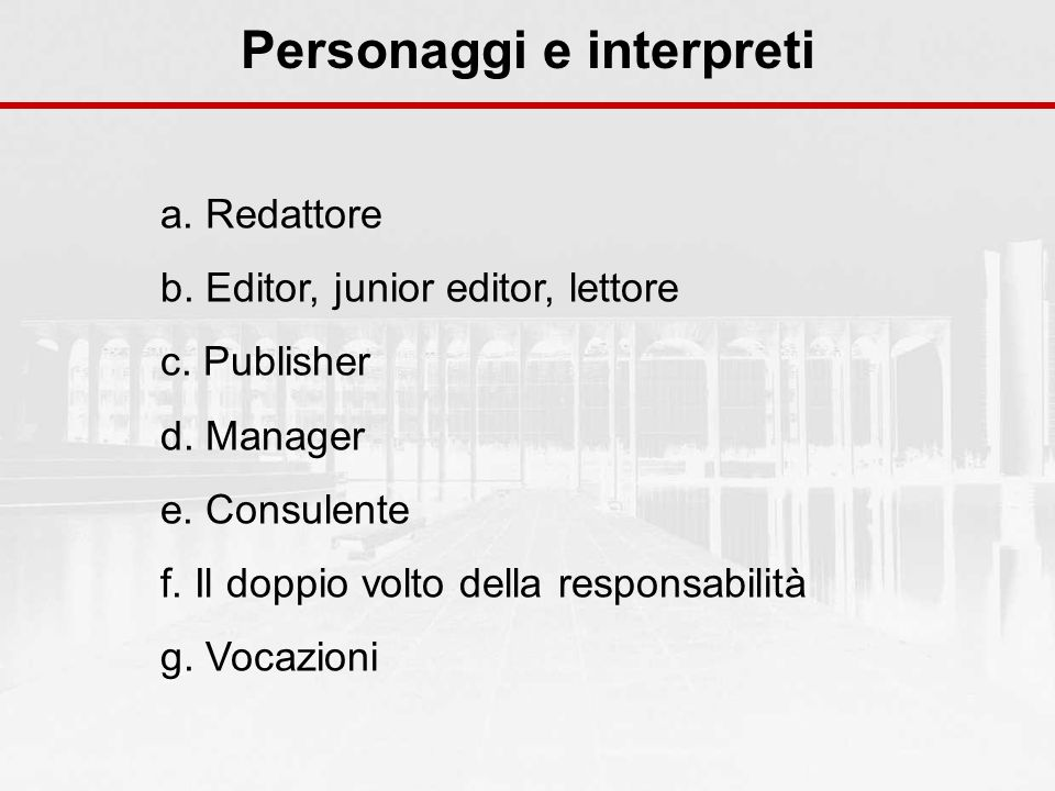 Personaggi e interpreti