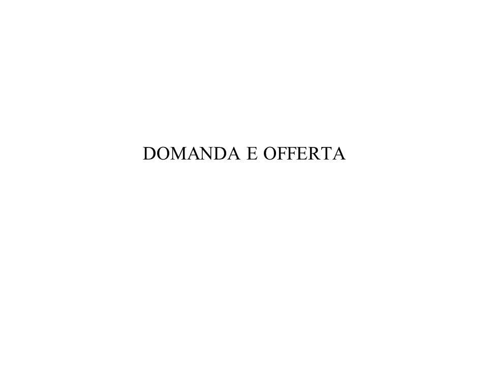 DOMANDA E OFFERTA