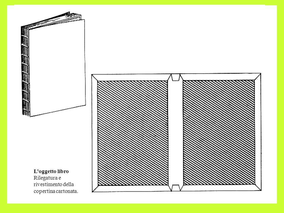 L'oggetto libro Rilegatura e rivestimento della copertina cartonata.