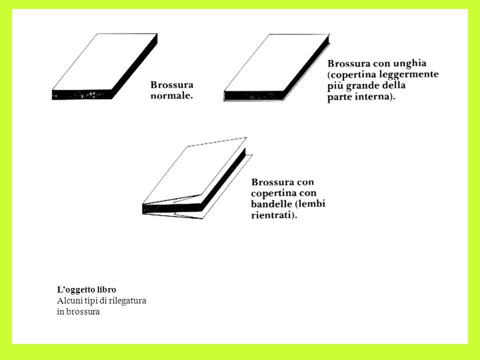 L'oggetto libro Alcuni tipi di rilegatura in brossura