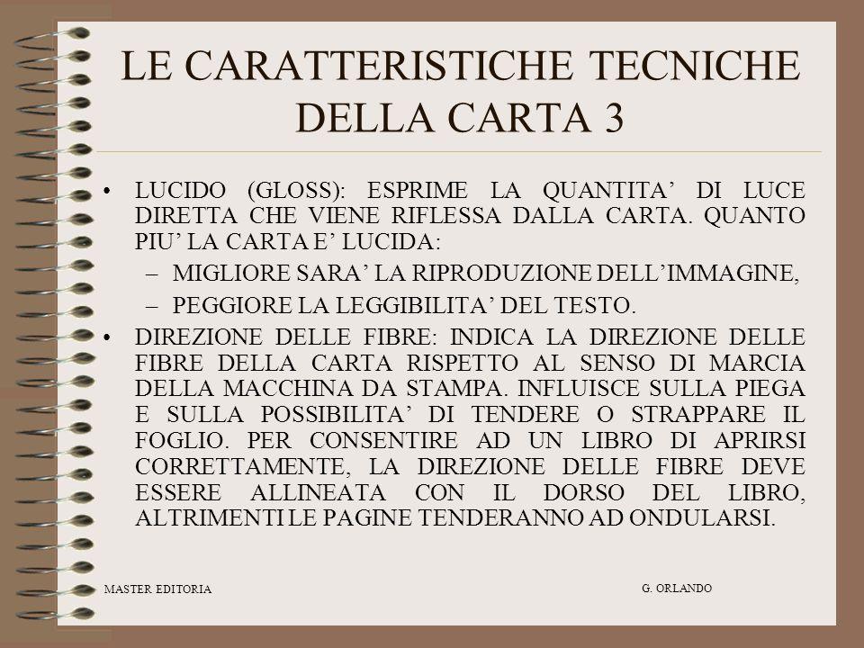 LE CARATTERISTICHE TECNICHE DELLA CARTA 3
