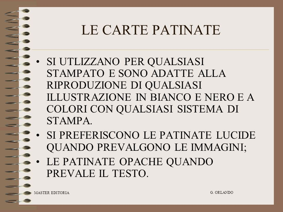 LE CARTE PATINATE