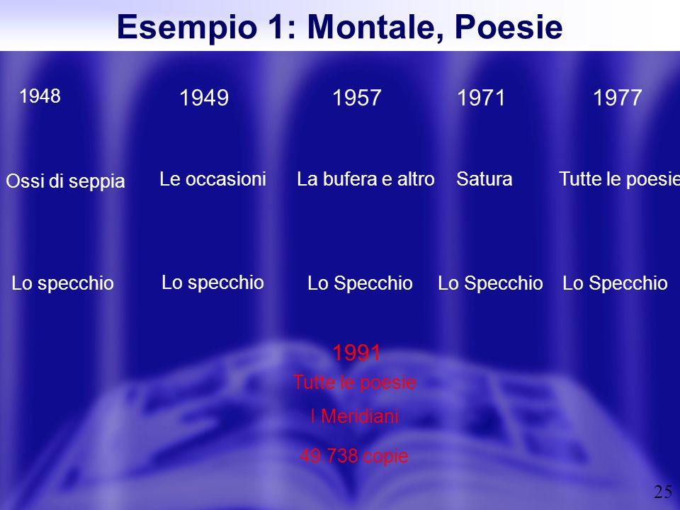 Esempio 1: Montale, Poesie