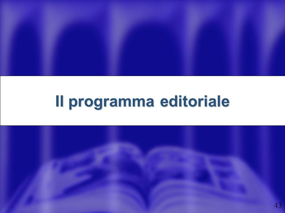 Il programma editoriale