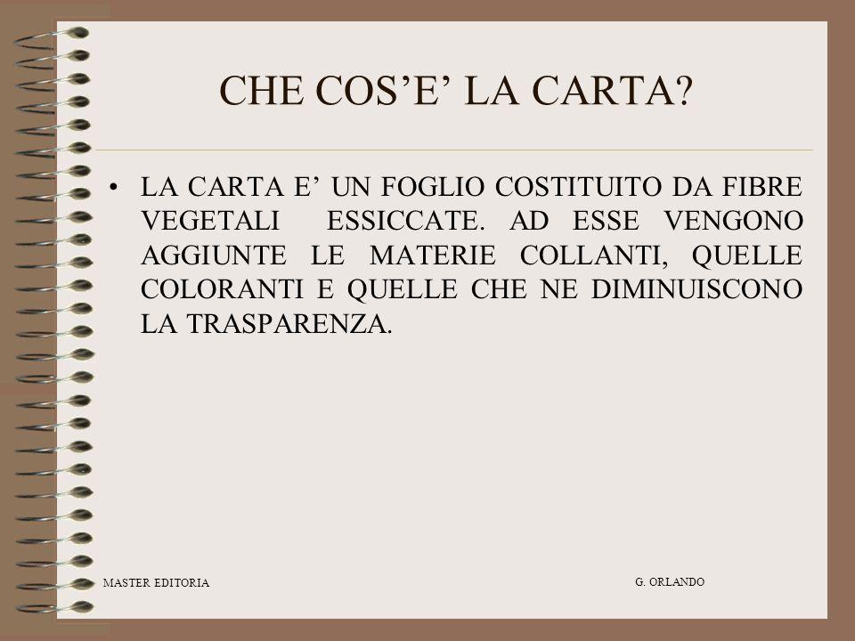CHE COS'E' LA CARTA