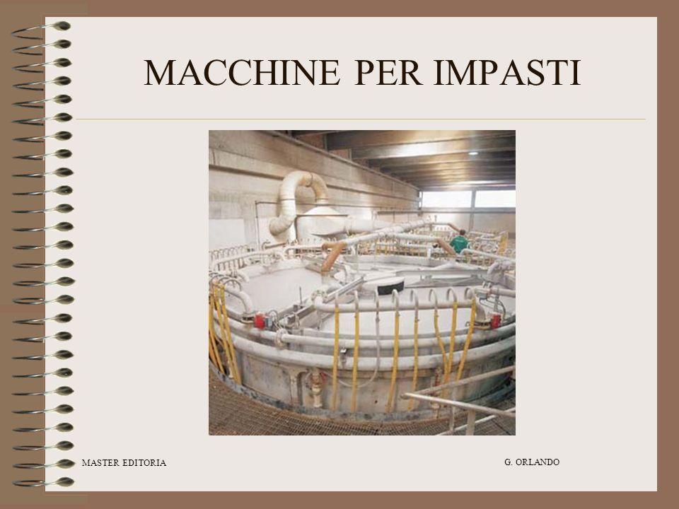 MACCHINE PER IMPASTI MASTER EDITORIA G. ORLANDO