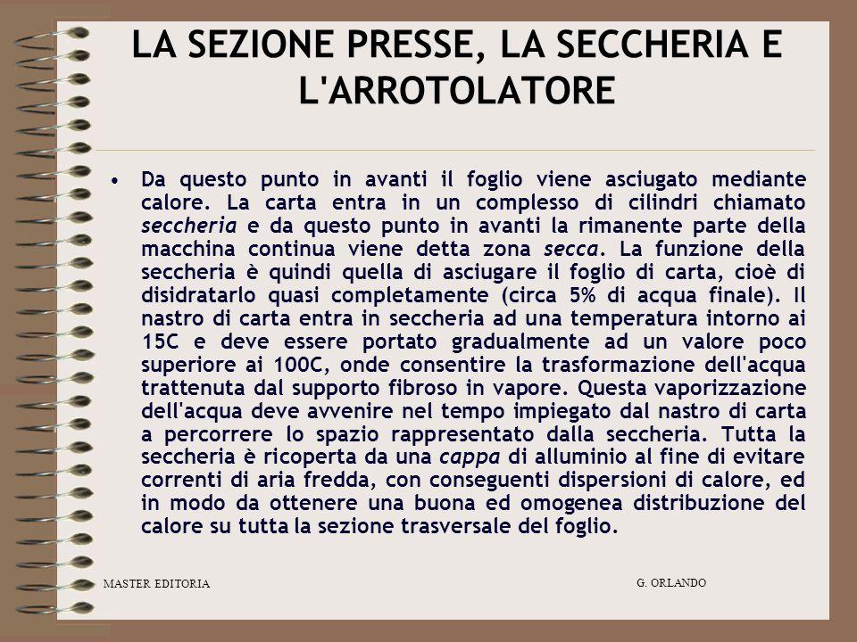 LA SEZIONE PRESSE, LA SECCHERIA E L ARROTOLATORE