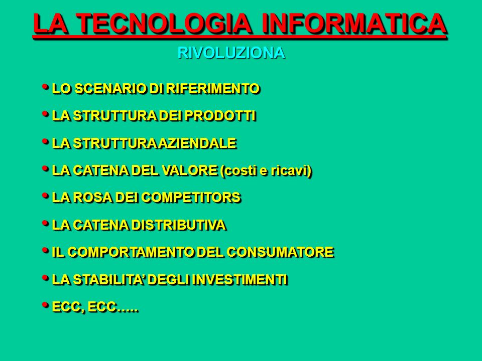 LA TECNOLOGIA INFORMATICA