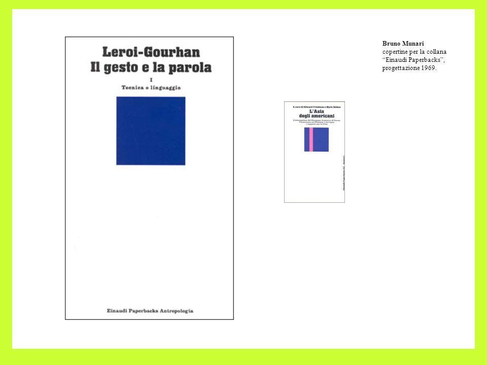 Bruno Munari copertine per la collana Einaudi Paperbacks , progettazione 1969.