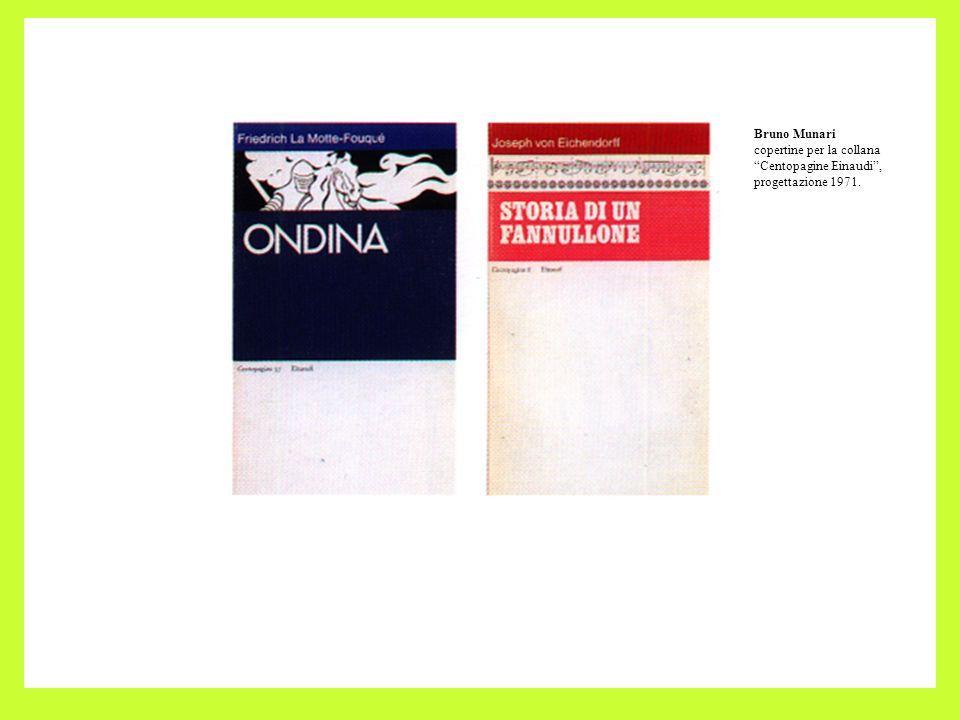 Bruno Munari copertine per la collana Centopagine Einaudi , progettazione 1971.