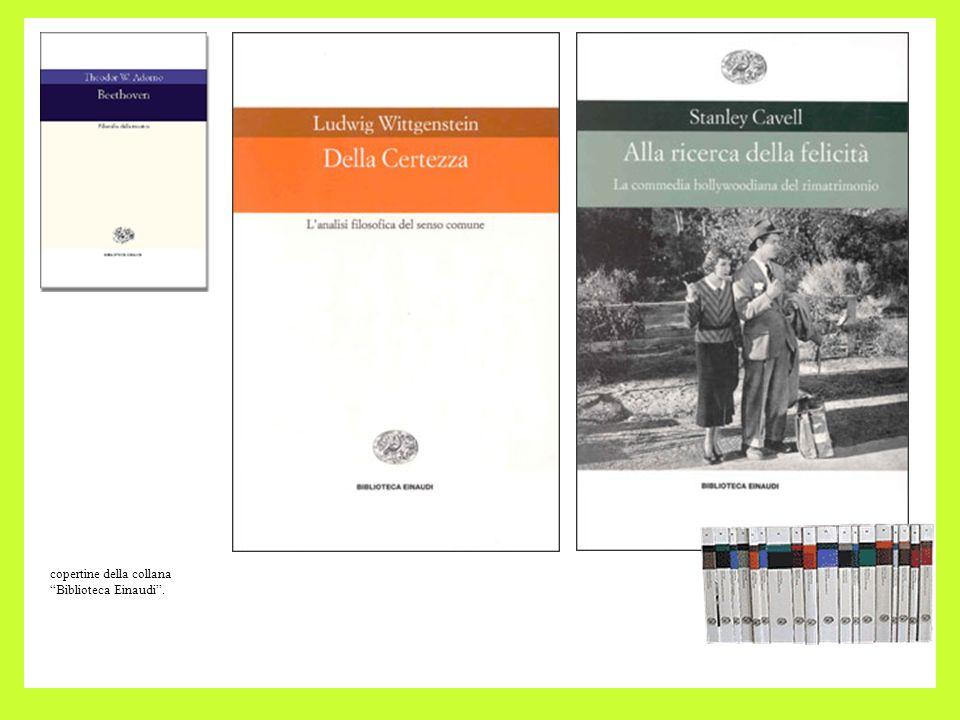 copertine della collana Biblioteca Einaudi .