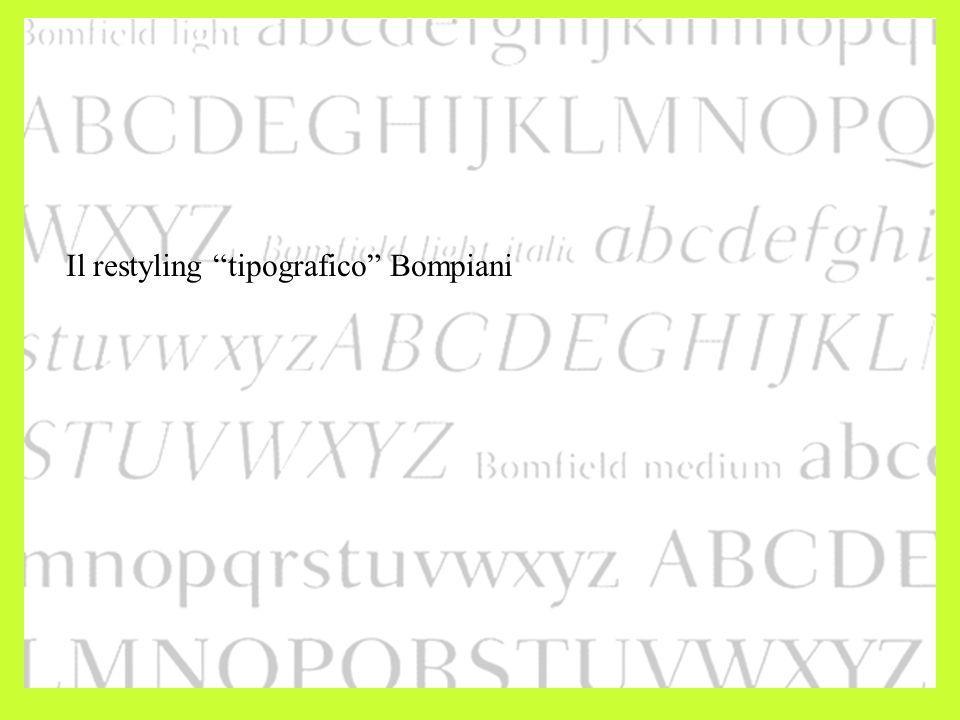 Il restyling tipografico Bompiani