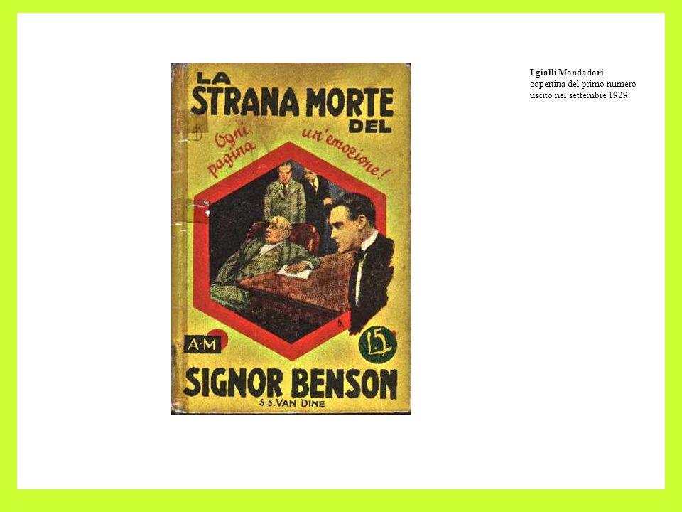 I gialli Mondadori copertina del primo numero uscito nel settembre 1929.