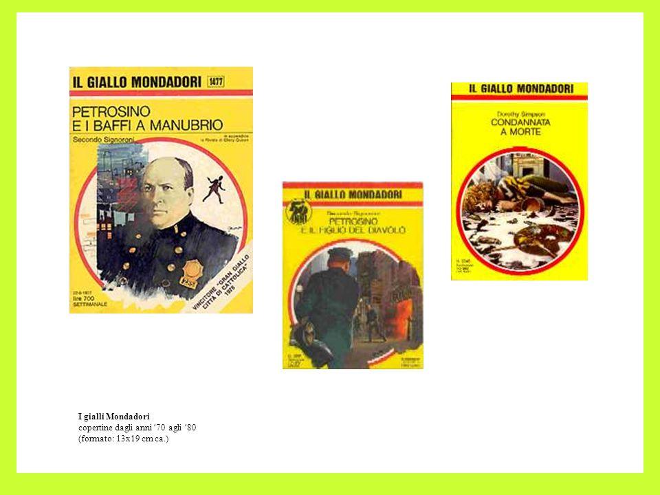 I gialli Mondadori copertine dagli anni '70 agli '80 (formato: 13x19 cm ca.)