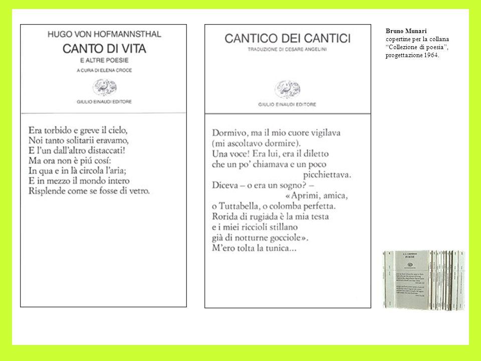 Bruno Munari copertine per la collana Collezione di poesia , progettazione 1964.