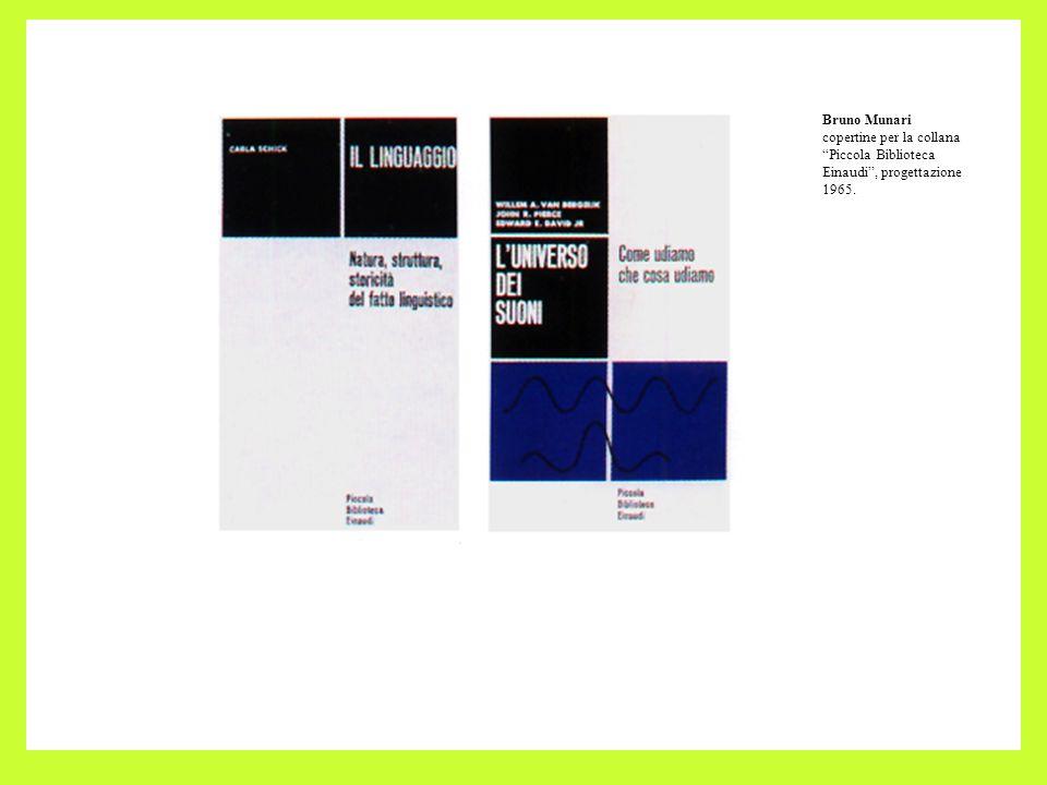 Bruno Munari copertine per la collana Piccola Biblioteca Einaudi , progettazione 1965.