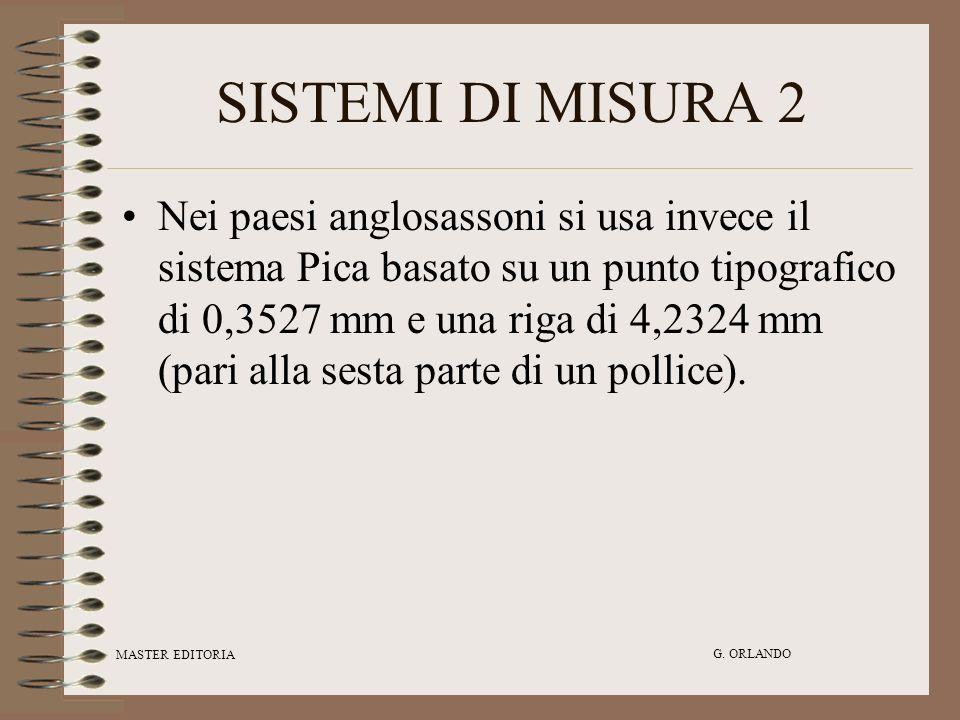 SISTEMI DI MISURA 2