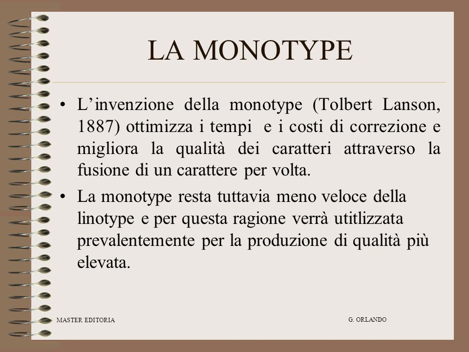 LA MONOTYPE