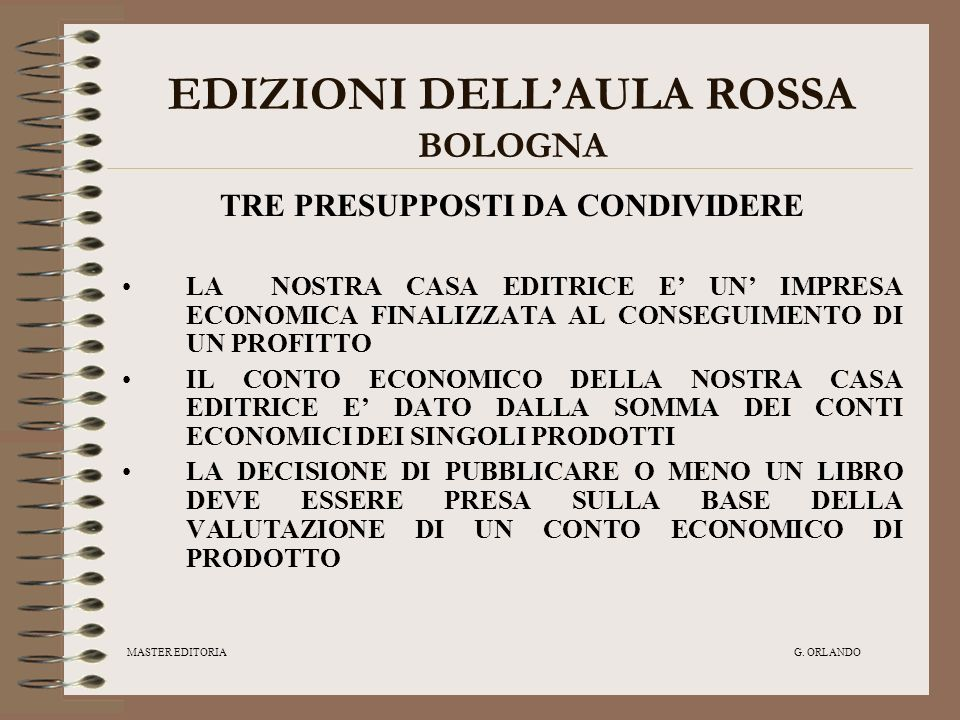 EDIZIONI DELL'AULA ROSSA BOLOGNA