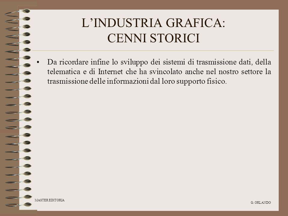 L'INDUSTRIA GRAFICA: CENNI STORICI