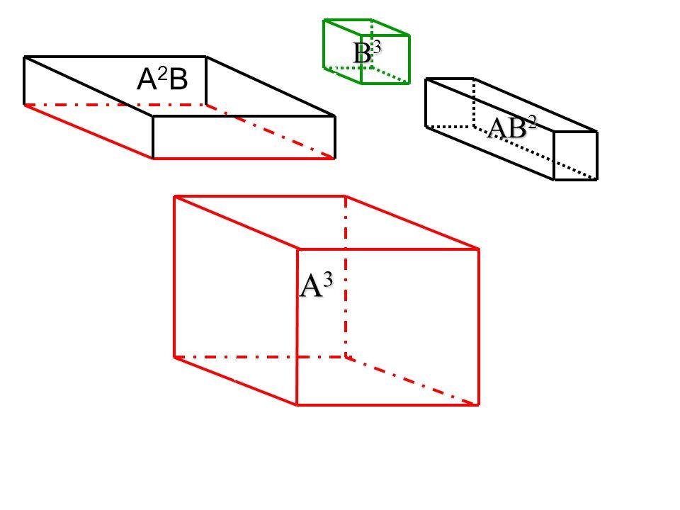 B3 A2B AB2 A3