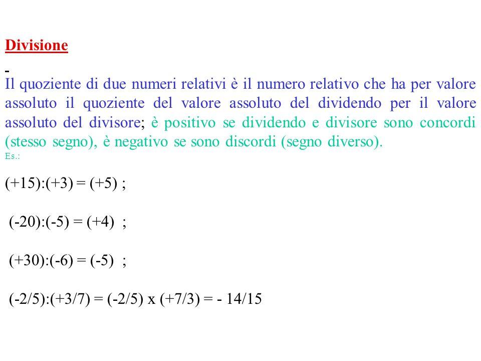 (-2/5):(+3/7) = (-2/5) x (+7/3) = - 14/15