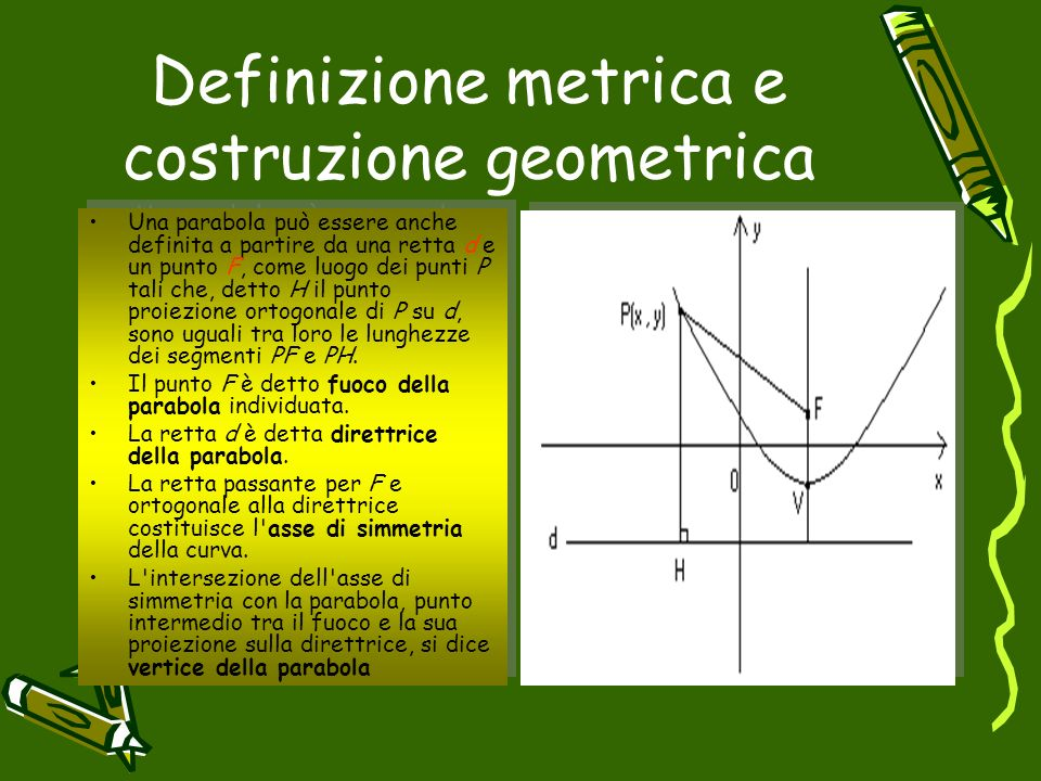 Definizione metrica e costruzione geometrica