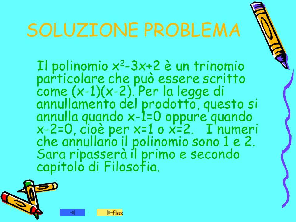 SOLUZIONE PROBLEMA