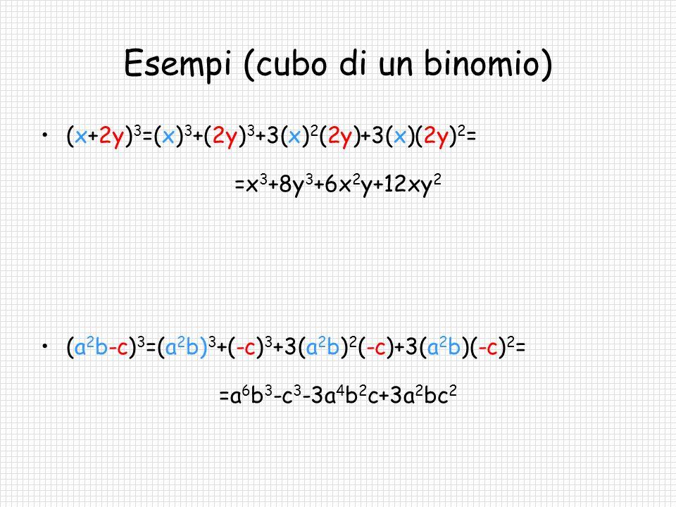 Esempi (cubo di un binomio)