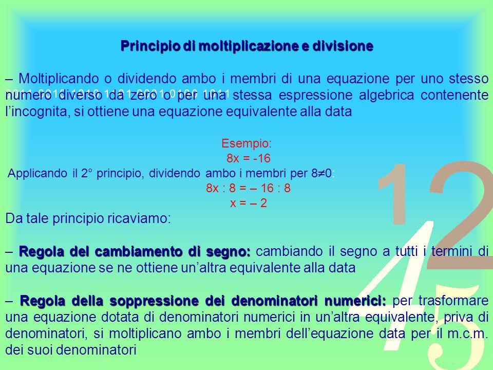 Principio di moltiplicazione e divisione