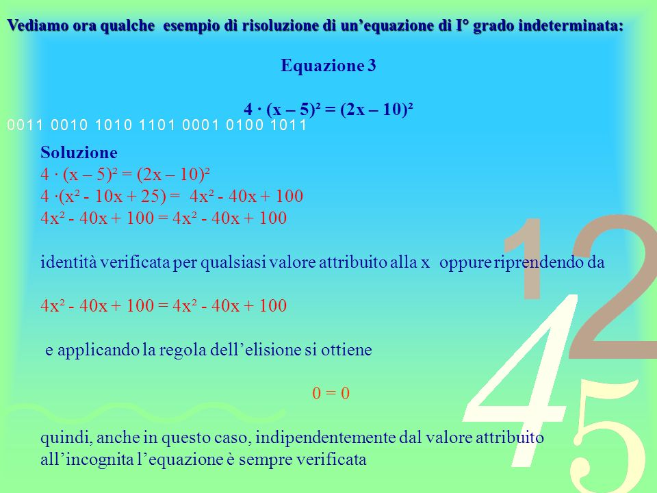 Equazione 3 4 ∙ (x – 5)² = (2x – 10)²