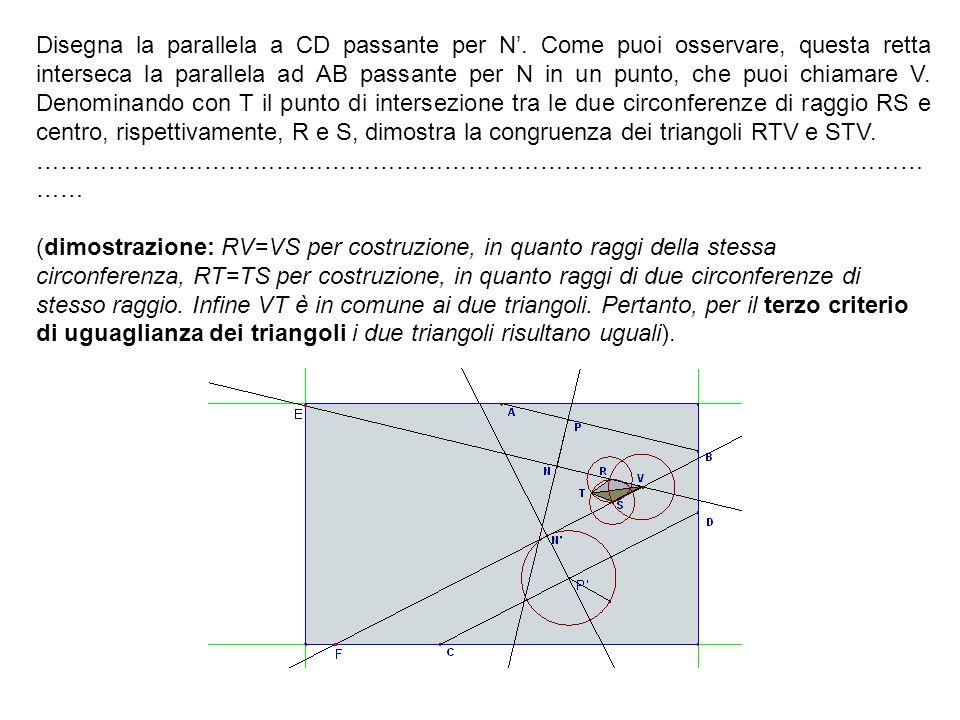 Disegna la parallela a CD passante per N'