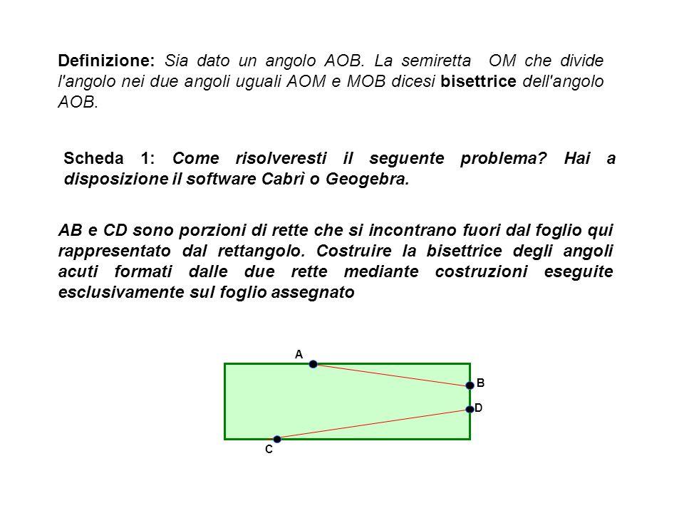 Definizione: Sia dato un angolo AOB