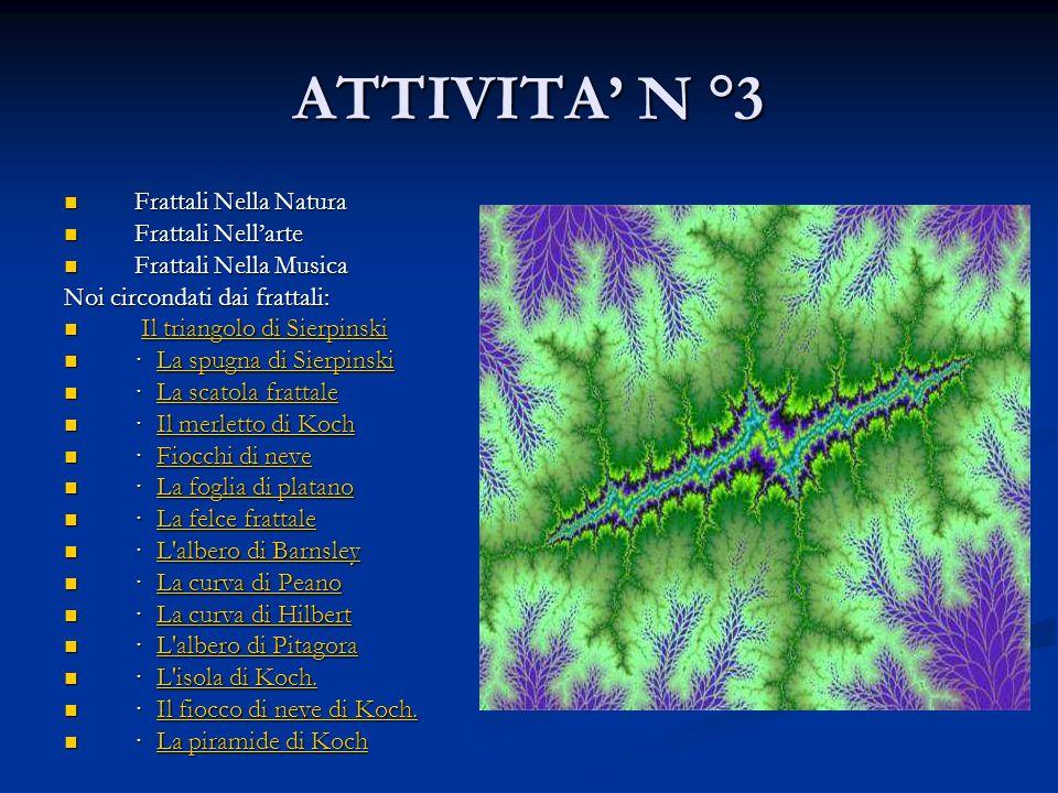 ATTIVITA' N °3 Frattali Nella Natura Frattali Nell'arte