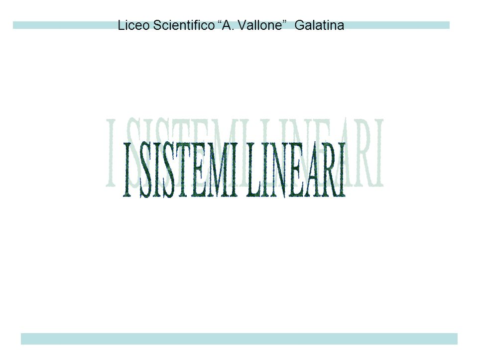 Liceo Scientifico A. Vallone Galatina
