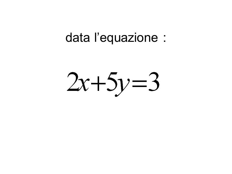 data l'equazione :