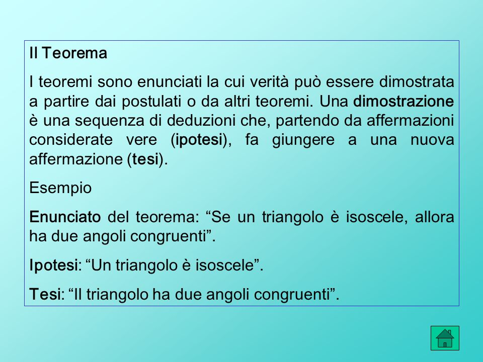 Il Teorema