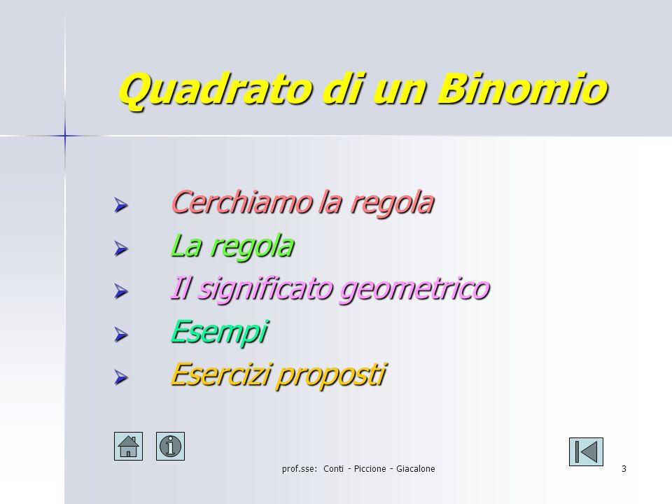 prof.sse: Conti - Piccione - Giacalone