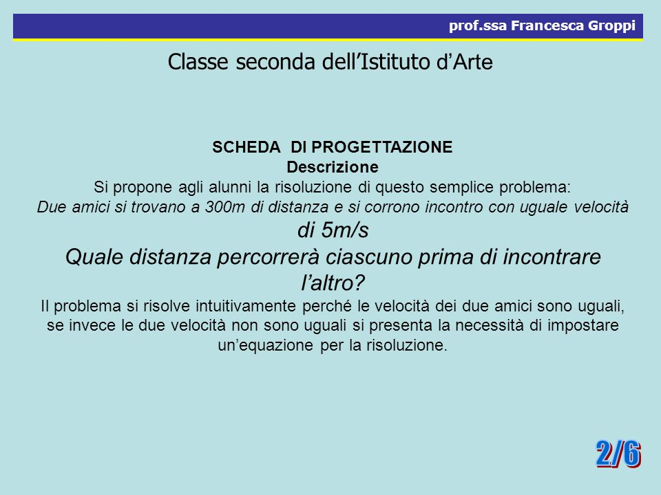 Classe seconda dell'Istituto d'Arte