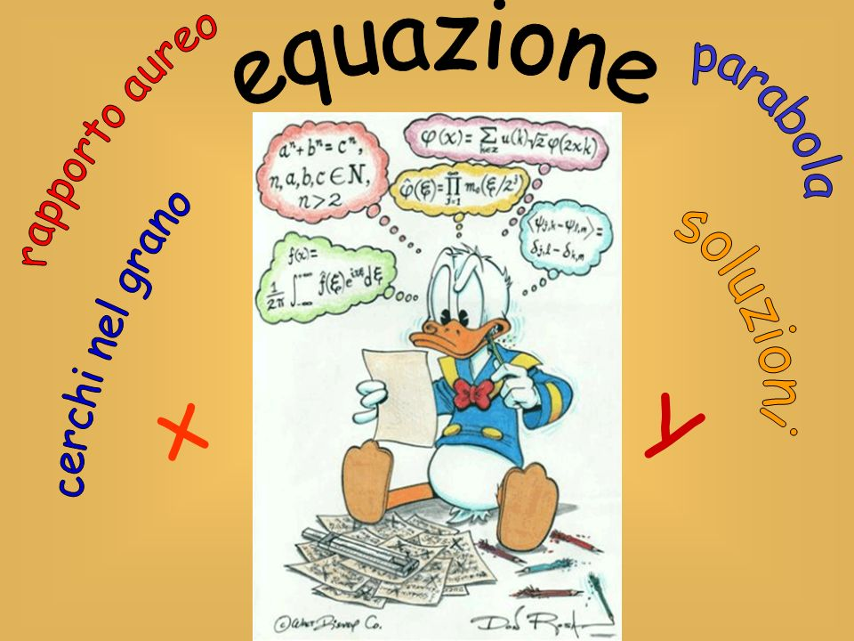 equazione parabola rapporto aureo soluzioni cerchi nel grano x Y