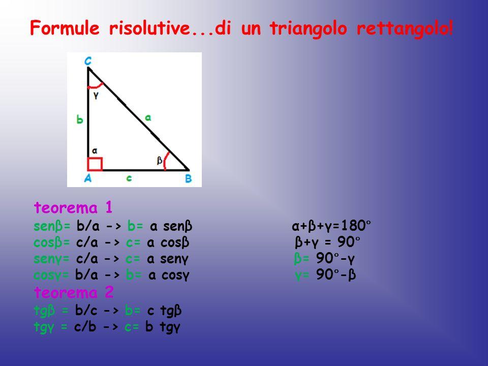 Formule risolutive...di un triangolo rettangolo!