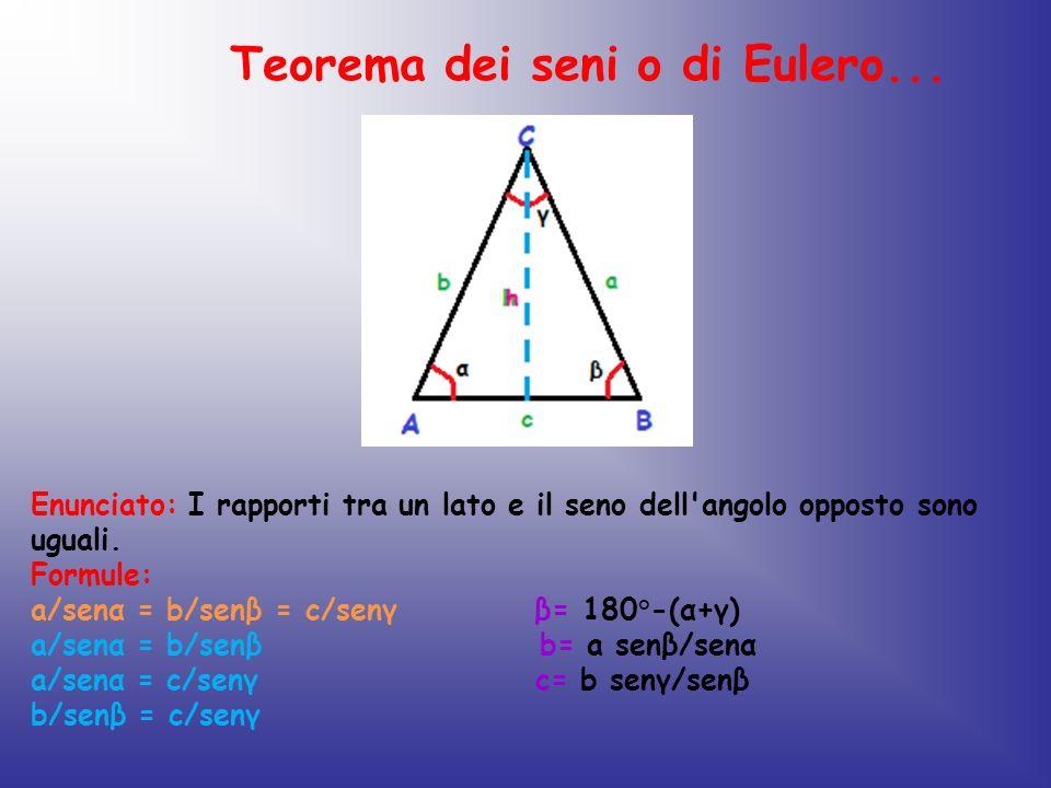 Teorema dei seni o di Eulero...