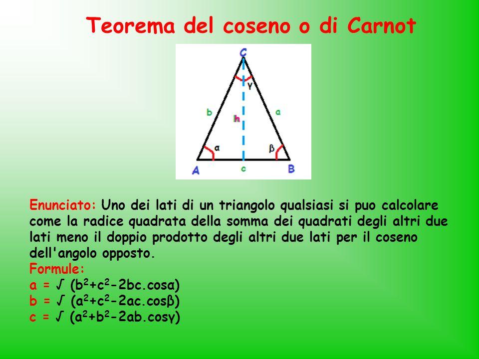 Teorema del coseno o di Carnot